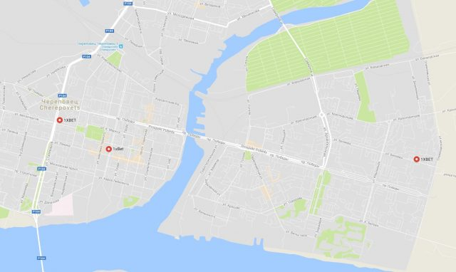 «1xbet» - в Череповце (на карте)
