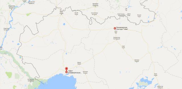 1xbet в Казахстане: адреса на карте
