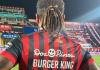 Футболист поменял фамилию на Burger King на один матч